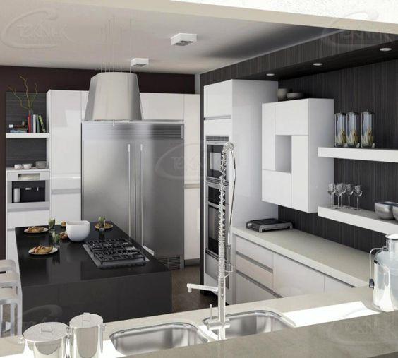 El espacio de la cocina no siempre es abierto sin embargo for Cocinas con desayunador