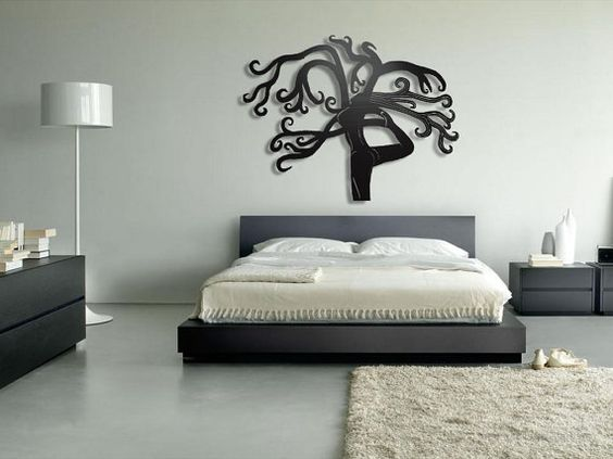 Tree Yoga Metal Wall Art - Large Metal Wall Decor my favorite things