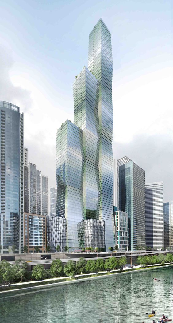 Studio Gang Architects proposed a new tower for Chicago