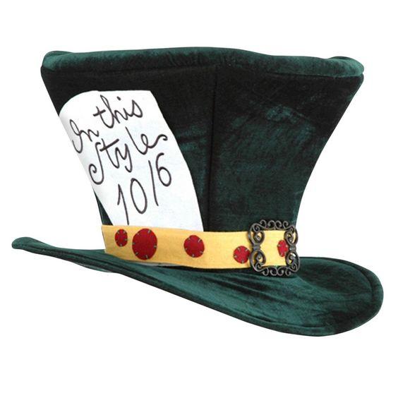 Halloween Alice In Wonderland Classic Mad Hatter Hat Green, Men's