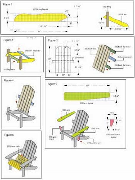Diy adirondack chair plans - Plan de chaise en bois gratuit ...