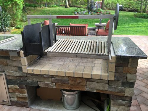 Sante Install Complete2 Jpg Outdoor Grill Brick Bbq Built In Grill