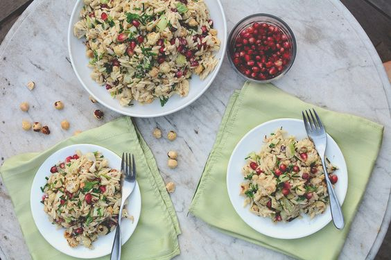 Salade de pâtes orzo à l'orientale | Natrel