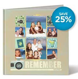 Just Can't Wait! Early Birthday Savings -- Save from June 12 through June 25 on all of our Albums, Quick Albums, PicFolio® Photo Albums and Hardcover StoryBooks. It's our way of warming up for our 25th birthday celebration, coming in July!