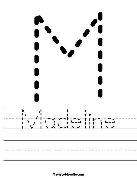Common Worksheets » Custom Tracing Worksheets - Preschool and ...