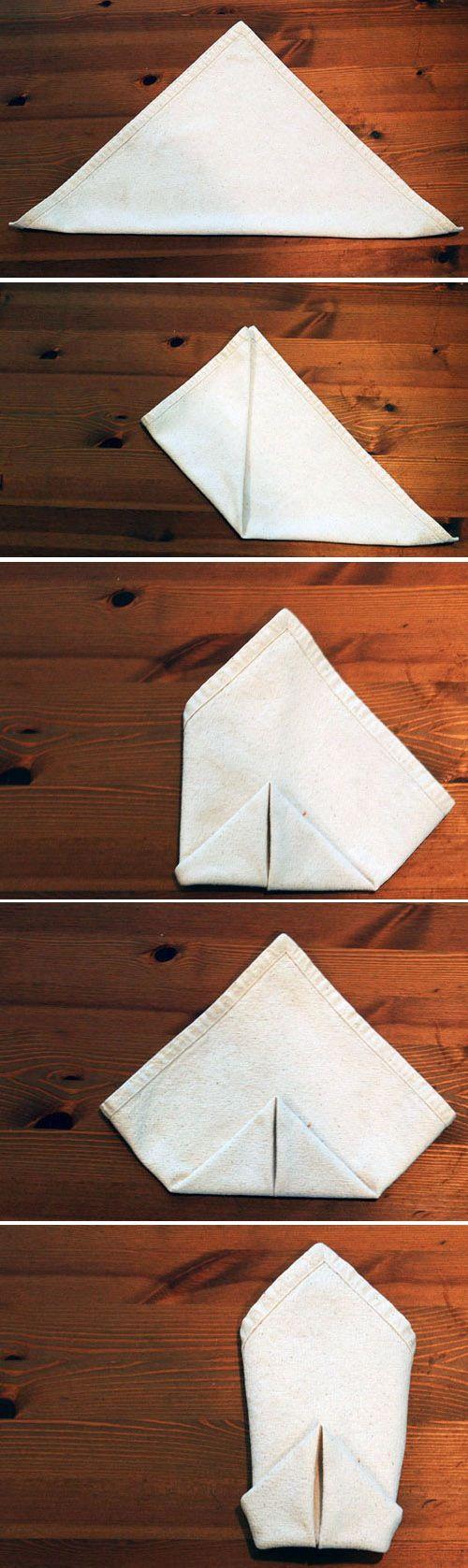 Napkin Folding Techniques | 食卓をリッチな雰囲気にしてくれるクリエイティブ ...
