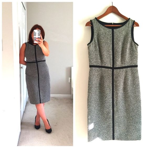 Jones Studio tweed dress In EUC. Hardly worn. Fully lined. Perfect for transitioning into fall and winter. Spot in the first pic is sun light :) Jones studio Dresses
