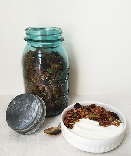 Dried cherries and crunchy pumpkin seeds are a nice early autumn combo ...