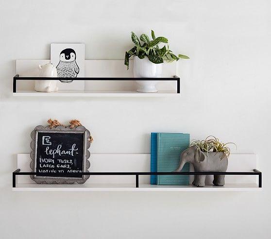 Black Polished Shelving Decorating Shelves Wall Shelf Decor