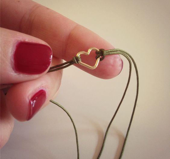 DIY Das mach ich selber! DIY Blog rund um Mode, Schmuck, Home und alles selbst gemachte: DIY Weihnachtsgeschenk. Herz-Armband