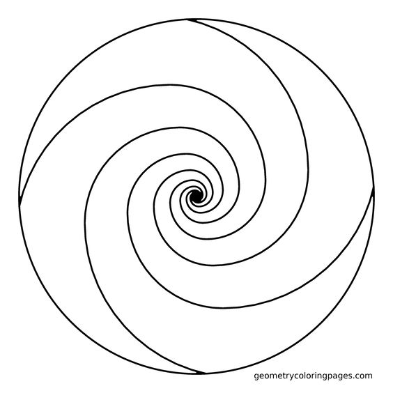 spiral coloring pages to print | Mandala Coloring Page, Golden Ratio Spiral | Adult ...