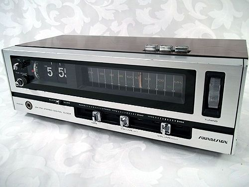 Sold Vintage Soundesign Am Fm Fm Stereo Alarm Flip Clock