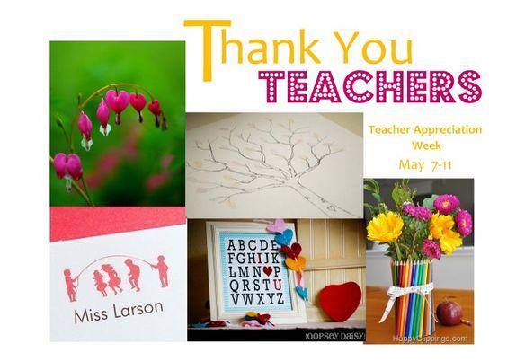 Ideas for Teacher Appreciation Week from Not Just Cute.
