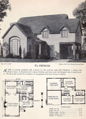 1928 Home Builders Catalog The Dedham Catalog House and Vintage