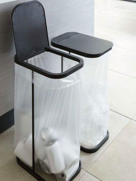 ゴミ袋の容量いっぱいに入るゴミ箱 ルーチェ ゴミ箱 キッチン キッチン ゴミ箱 アイデア インテリア