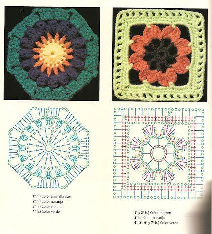 Gallery.ru / Фото #10 - CUADRADITOS crochet - griega