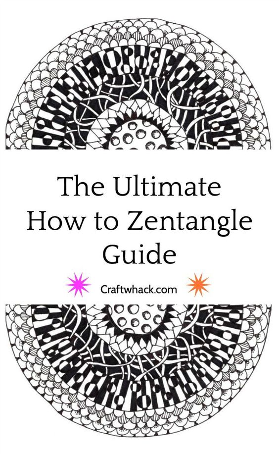 Zentangle for Beginners - Step by Step Tutorial for How to ...