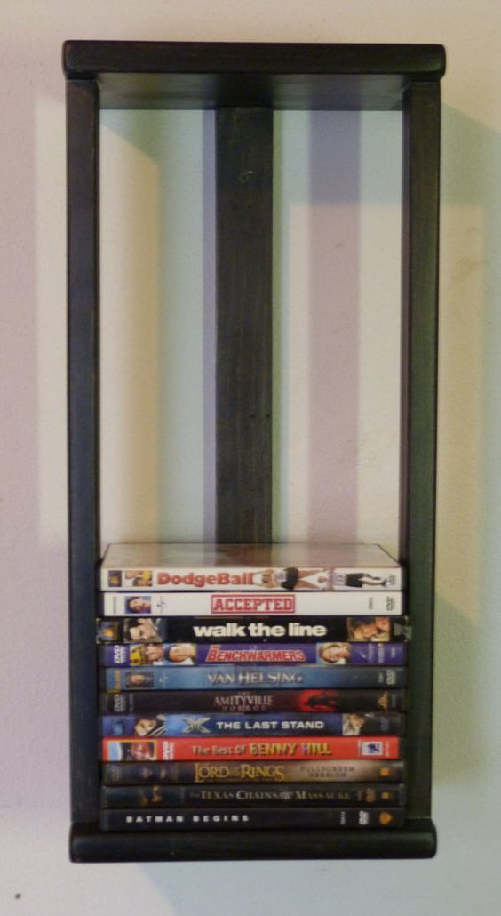 Dvd wall storage wall storage and storage racks on pinterest In wall dvd storage