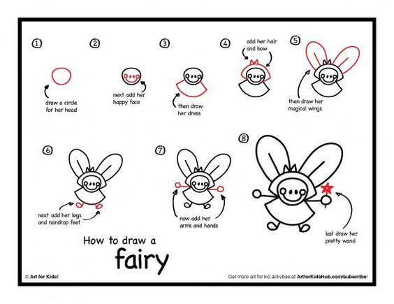How To Draw A Fairy For Kids