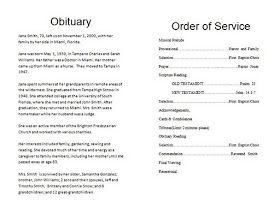 The Funeral-Memorial Program Blog: How To Write a Funeral Program ...