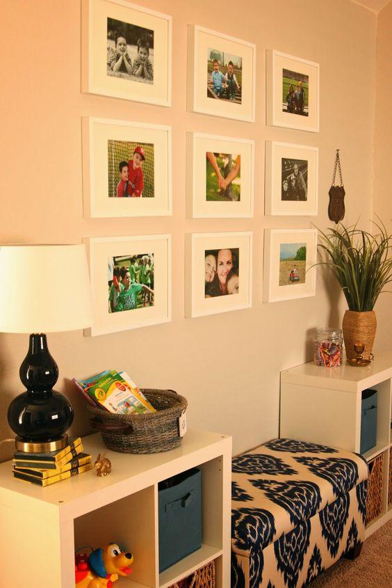 Windgate Lane: Playroom Gallery Wall- Benjamin Moore Revere Pewter and Ikea Frames
