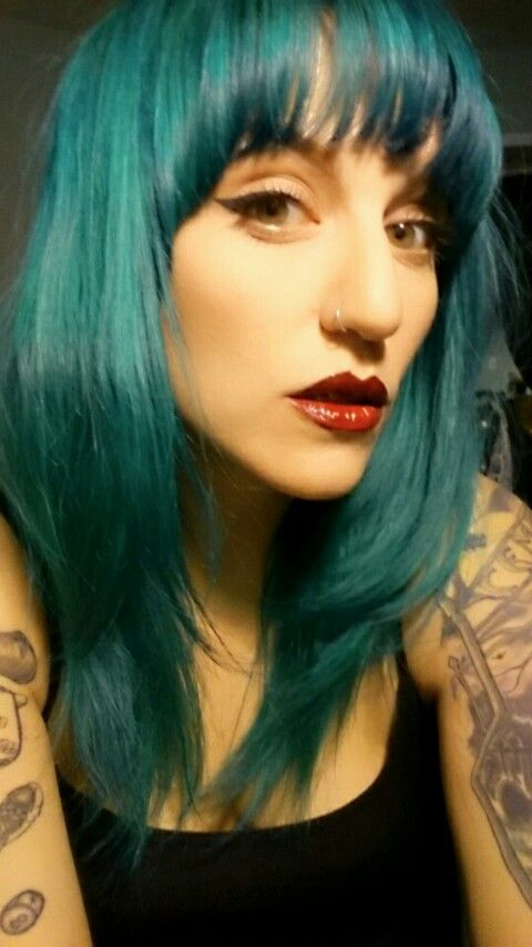 Teal Hair Found On Http Wonderpiel Makeup Pinterest Fishbowl Special Effects Dye