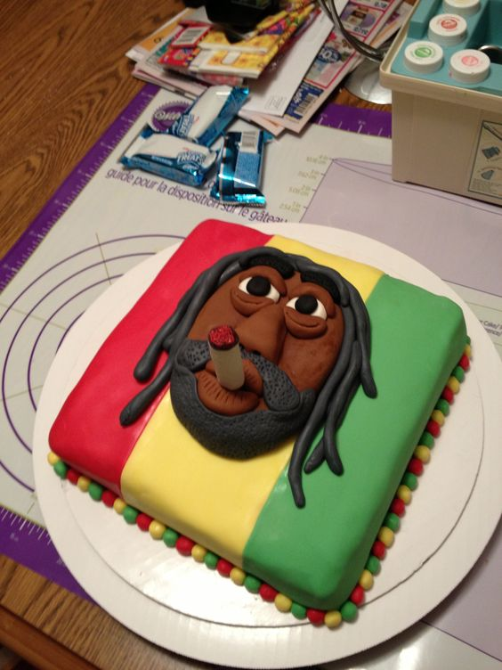 Rasta cake Rasta party Pinterest Rasta cake and Cakes