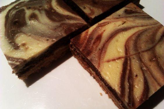 Marbled Chocolate Cheesecake Slice
