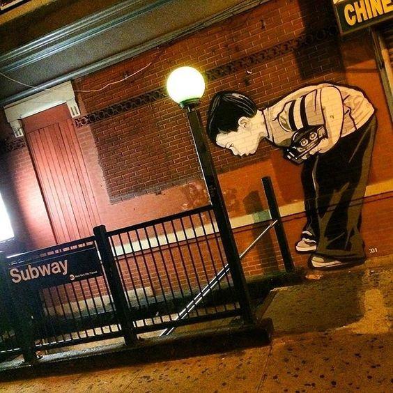 regram @streetartnews The work of Joe Iurato in New York City #streetart #streetartnews @joeiurato