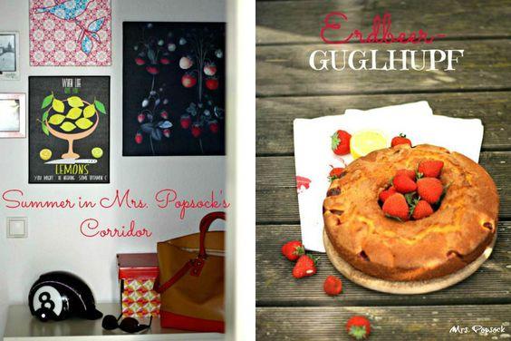 Sommer in Mrs. Popsocks Flur mit Erdbeer-Guglhupf