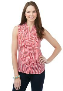 Striped Ruffle Top - Plus