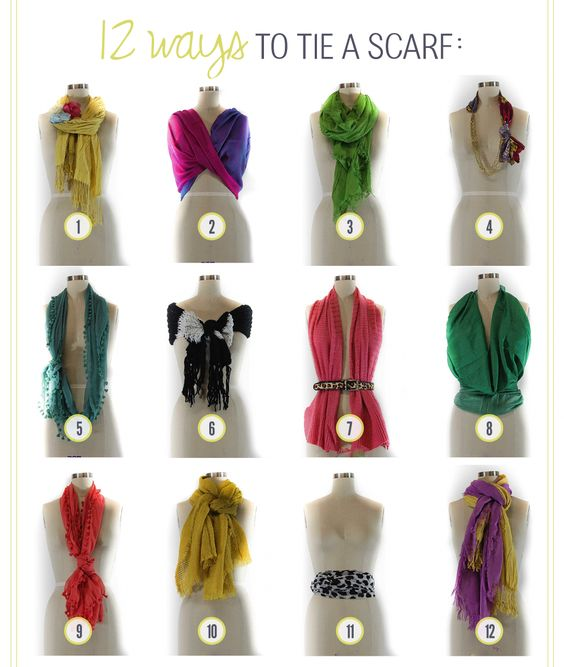 Another 12 ways to tie a scarf