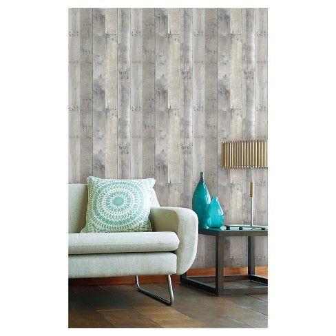 Reclaimed Wood Peel Stick Wallpaper Gray Threshold Peel And Stick Wallpaper Buy Reclaimed Wood Reclaimed Wood