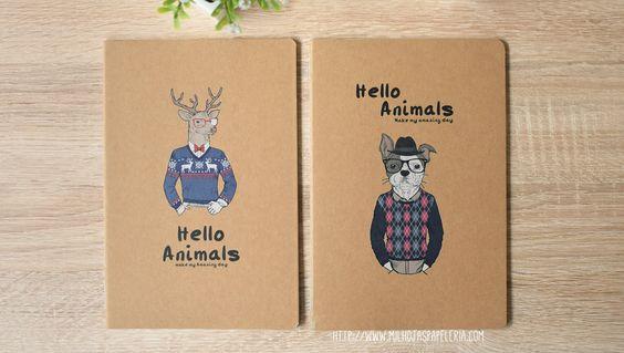 Libretas Hello Animals I | Mil Hojas papeleria