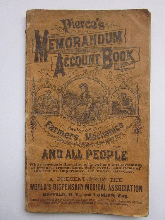 Pierceu0027s Memorandum and Account Book 1901-02 Libro - memorandum