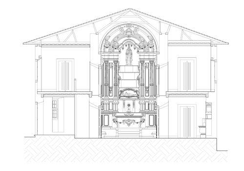 Restoration of Our Lady of Good Death Church. Igreja de Nossa Senhora da Boa Morte, Sao Paulo. Arch. Olympio Augusto Ribeiro