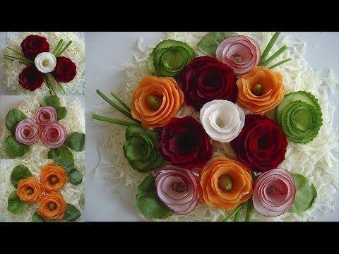 Jak Szybko Zrobic Kwiaty Z Warzyw Dekoracja Potraw Youtube Food Art Edible Beautiful Design