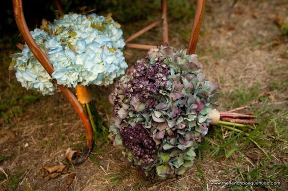 Autumn Bouquets of Hydrangea - The French Bouquet and Petite Fleur - Artworks Tulsa Photography