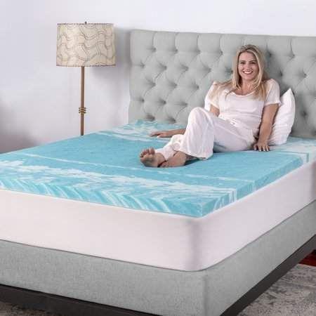 Biopedic 2 Inch Gel Swirl Memory Foam Mattress Topper Walmart Com Mattress Mattress Topper Foam Mattress