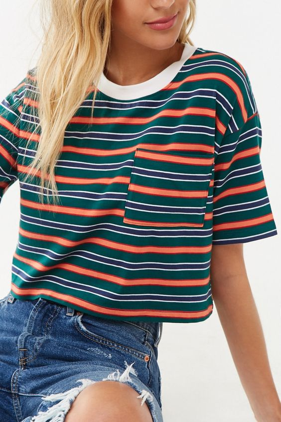 Striped Boxy Tee | Forever 21