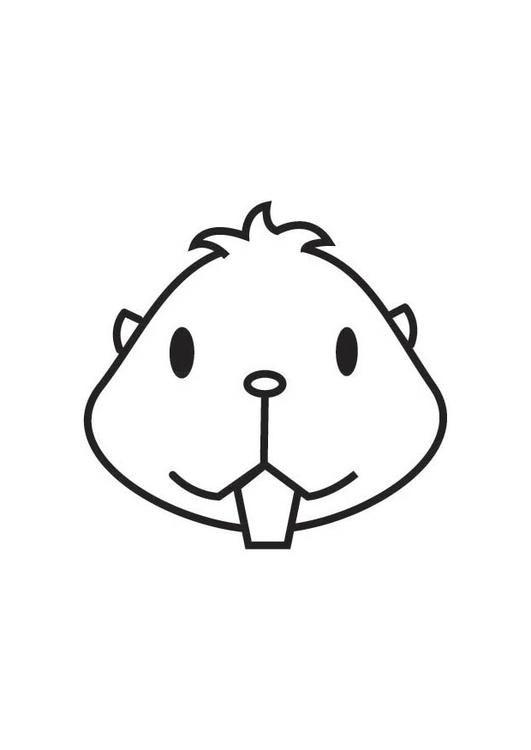 Cabeza De Hamster Hamster Hamster Dibujo Garabatos De Animales
