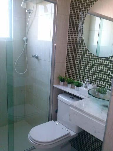 bancada p banheiro pequeno  Decoração  Pinterest  Cuba, Ps e Ladrilho -> Banheiro Pequeno E Barato
