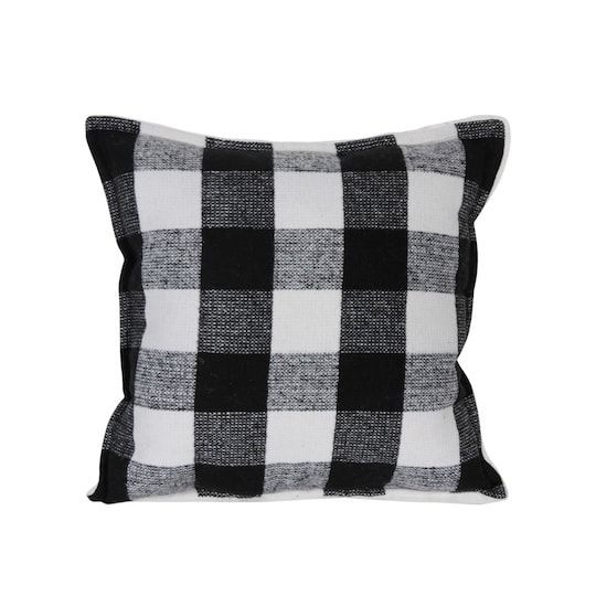 Black White Buffalo Check Pillow By Ashland Michaels In 2020 Buffalo Check Pillows Pillows Black White