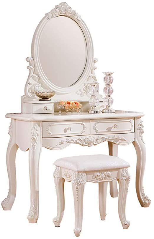 Boewan Vanity Mirror Dresser Table, What Size Mirror For Dresser
