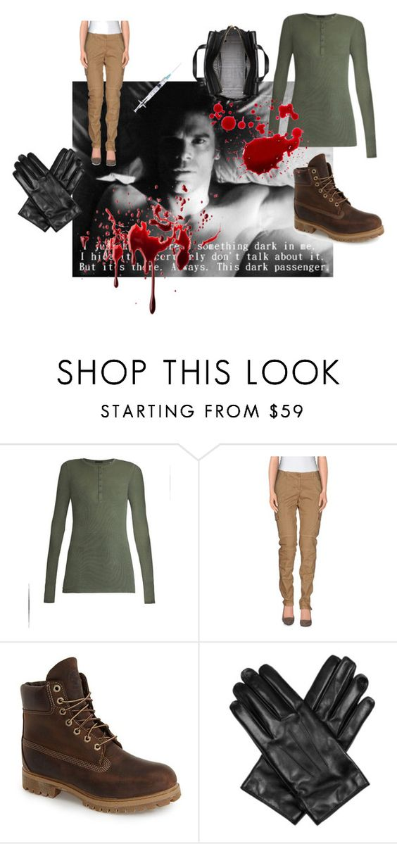 """Dexter Morgan - halloween costume"" by caffeinomaneanonima on Polyvore featuring moda, ATM by Anthony Thomas Melillo, G.SEL, Timberland, Lanvin, Kate Spade, Halloween, dressup, cosplay e Dexter"