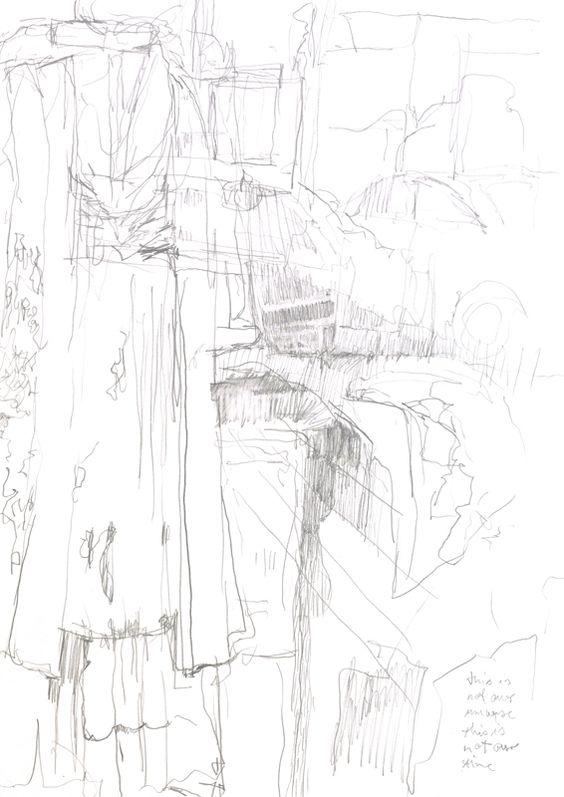 Guido Michl, Model shop II, Graphit auf Papier, 29,7 x 21 cm, 2009, 200 €