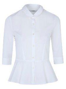 Girls School ¾ Sleeve Peplum Shirt – White | School | George at ASDA