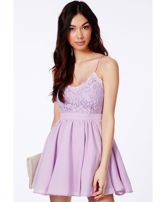 Shiraz Strappy Lace Detail Puffball Mini Dress - Dresses - Party Dresses - Missguided