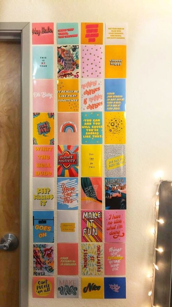 Insta worthy wall art ideas to copy for your college dorm room
