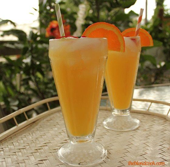 orange juice and vodka drink
